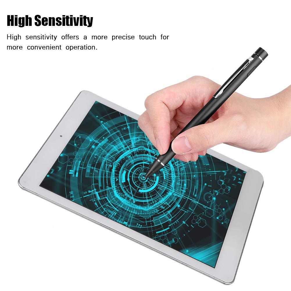 Multifunktion Eingabestift Touchstift Kapazitiver Malen//Schreiben//Notizen Pen,Hohe Empfindlich Ergonomisch Stylus Stift Touchstift f/ür IOS//Android Handy Tablet PC ASHATA Stylus Pen Schwarz