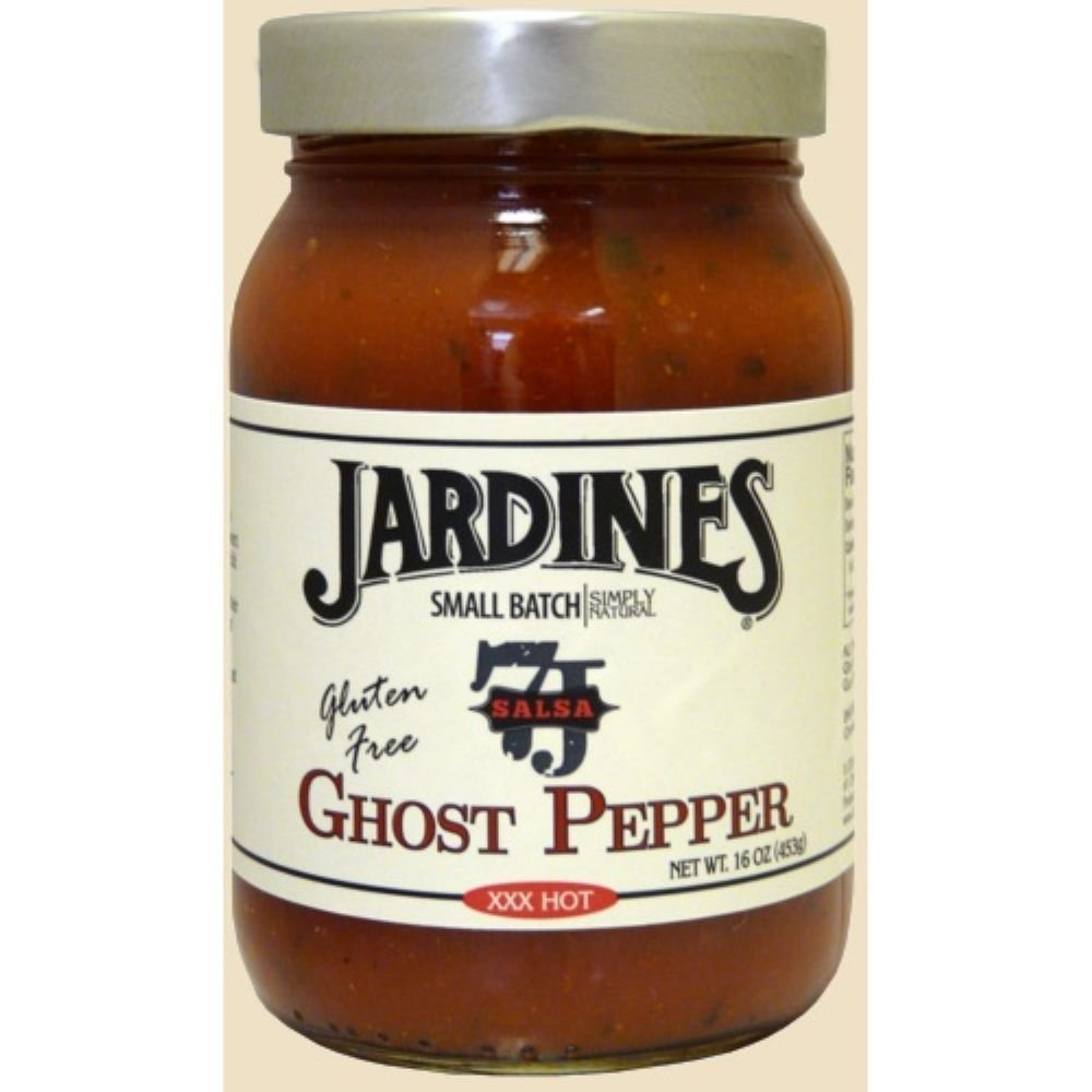 7J Ranch Ghost Pepper Salsa, 16 Ounce -- 6 per case. by Jardine's (Image #1)