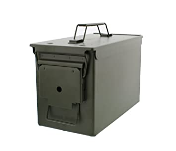 Charmant 30 Cal Metal Ammo Case Can U2013 Military And Army Solid Steel Holder Box For  Long