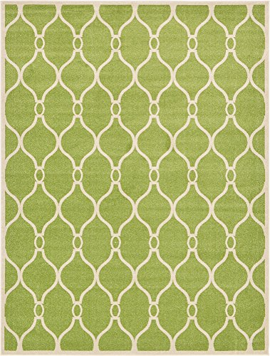 - Unique Loom Trellis Collection Geometric Modern Green Area Rug (9' 0 x 12' 0)
