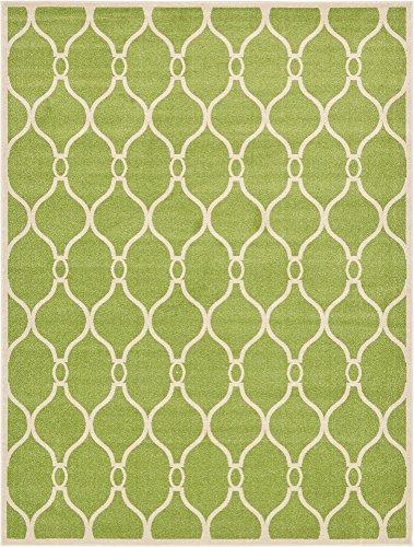 Unique Loom Trellis Collection Geometric Modern Green Area Rug (9' 0 x 12' 0)
