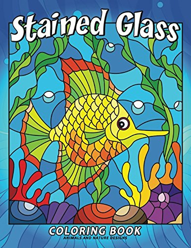 Free Download: Stained Glass Coloring Book: Stress ...