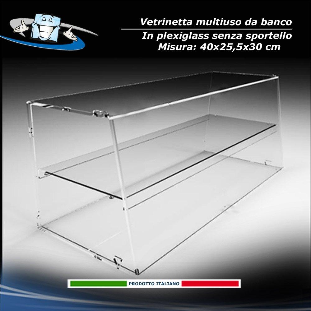 Circuito AUT AUT Vetrina da Banco in Plexiglass F.to 40x25, 5x30 cm vetrina per Alimenti Senza sportello