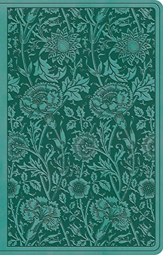 Holy Bible: English Standard Version, Teal, Floral, Trutone, Premium Gift