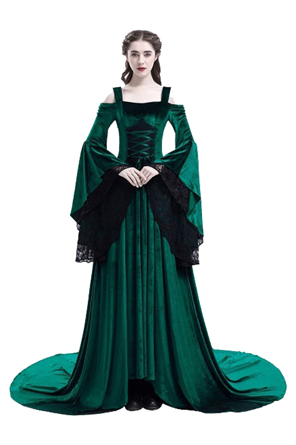 Amazon.com: baycon Womens Renaissance Costumes Medieval Irish Dress Victorian Retro Gown Cosplay: Clothing
