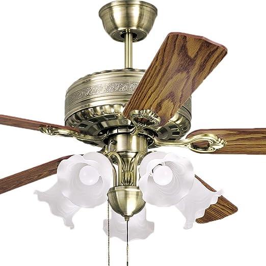 antiguo restaurante lámparas ventilador Kiba 52 pulgadas lámpara ...