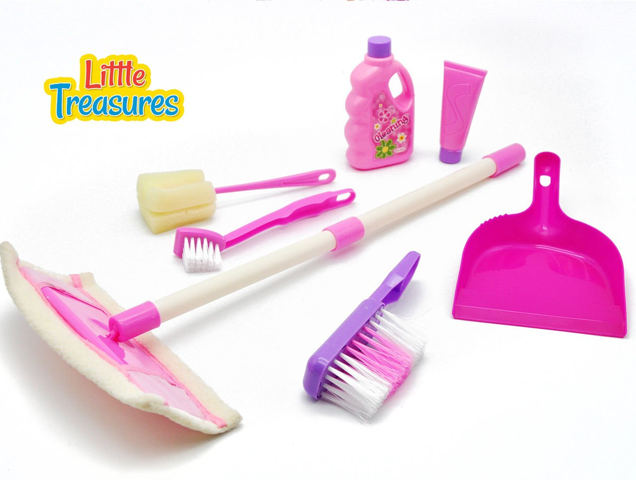 Little Treasures Small Sized 7-pc Cleaning Home Toy Set by Little Treasures