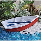 Cheap Miniature Fairy Garden Skiff With Oars