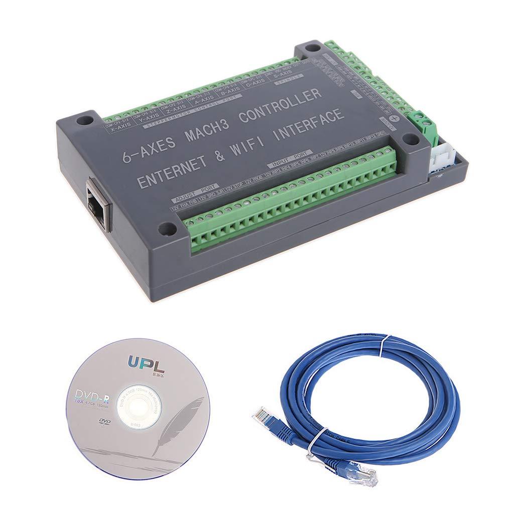 KINTRADE (1 Juego Má quina grabadora de Controlador de Tarjeta de Control/Tablero de Control Ethernet de 6 Ejes para Motor Paso a Paso 200 KHz
