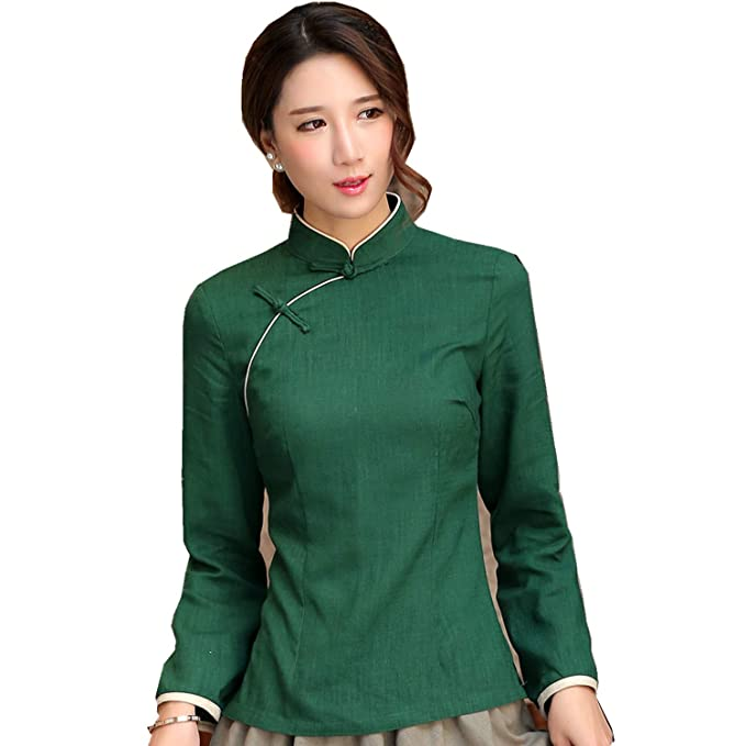dependable performance high fashion 2019 clearance sale Shanghai Story Chinese Shirt Long Sleeve Tang Qipao Top Blouse