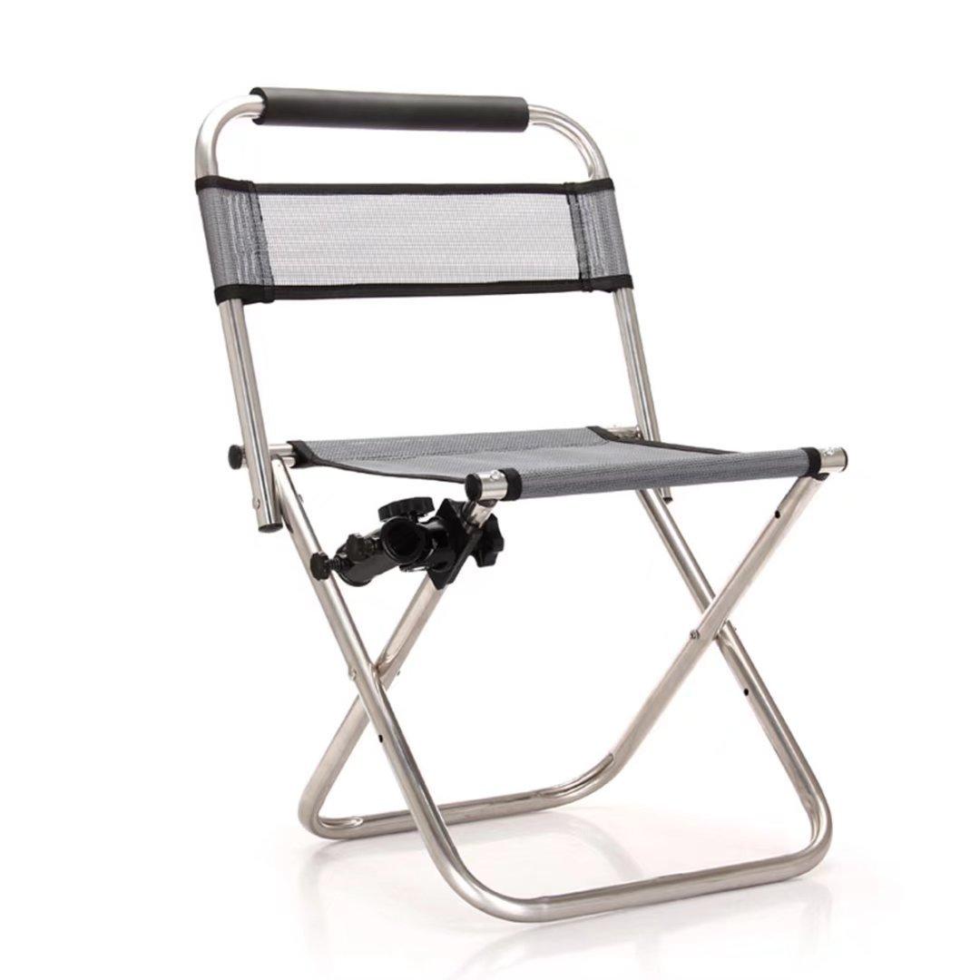 Edelstahl Angeln Stuhl Multifunktionale Klappsessel mit 360 Grad Turret Angeln Stuhl Fishing Camping Supplies