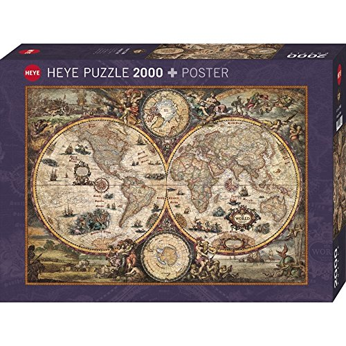 Old world map jigsaw puzzle jigsaw puzzles for adults heye vintage world 2000 piece jigsaw puzzle gumiabroncs Choice Image