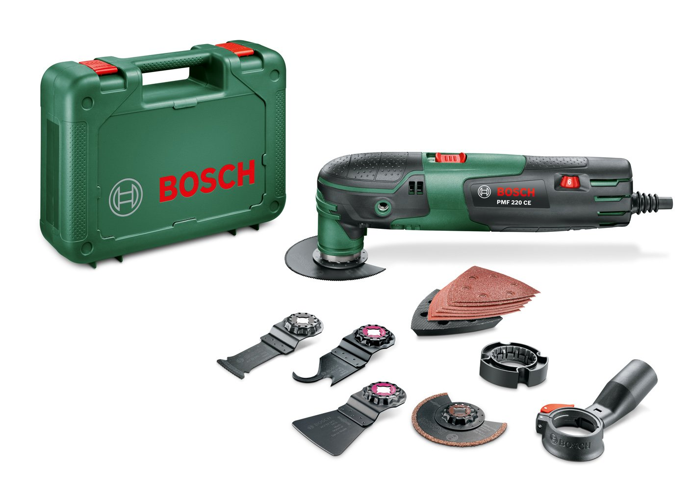 Bosch 0.603.102.000 PMF 220 CE Multiherramienta, 220 V, Schwarz, Grü n, W Grün 0603102000