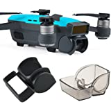 Kuuqa 2 Pcs Lens Hood Sunshade and Camera Gimbal Cover Lens Cap Front 3D Sensor System Screen Cover for Dji Spark (Dji Spark Not Include)