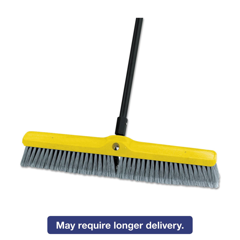 Rubbermaid Medium Floor Sweeper Head, 24'', Polypropylene/Tampico, 12/Carton 9B11 GRA