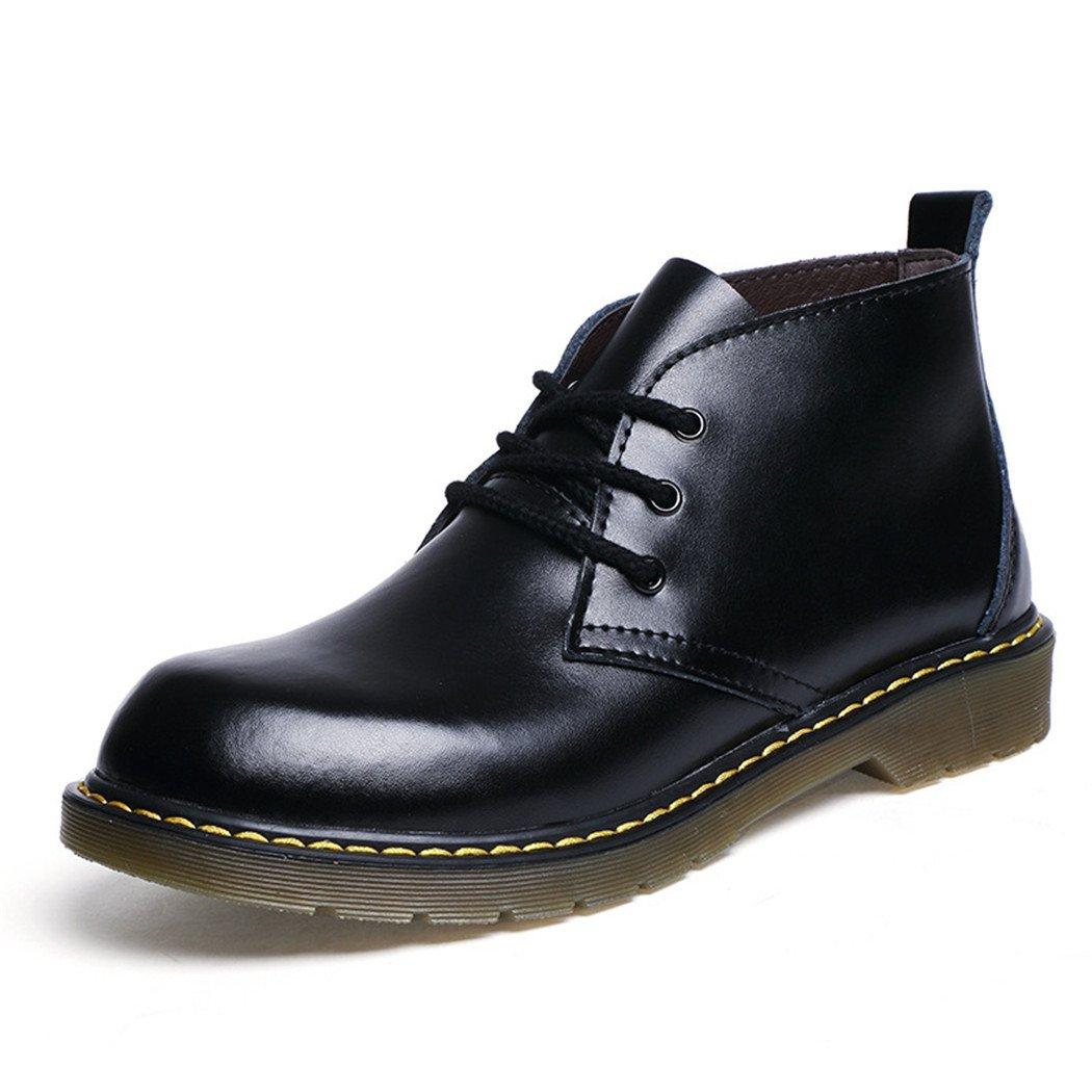 HHY-Desgaste transpirable en el otoño y el invierno botas zapatos de cuero hombre cabeza Ma Dingxue,negro,40 40|black black