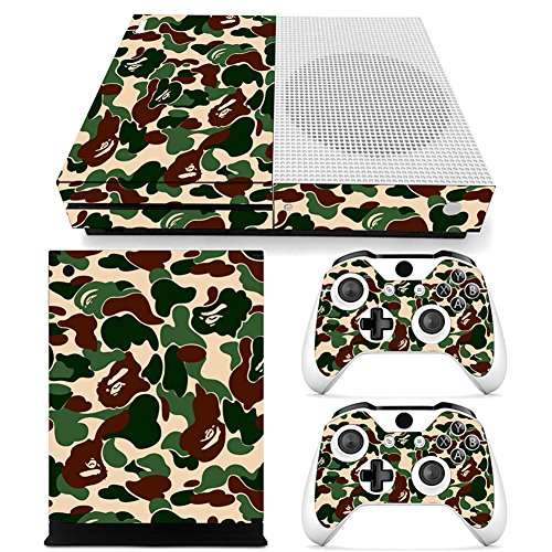 Newsmarts Skin Decal Stickers for Xbox One Console + 2 Controller, PVC,Camouflage StyleMilitary Style, ()