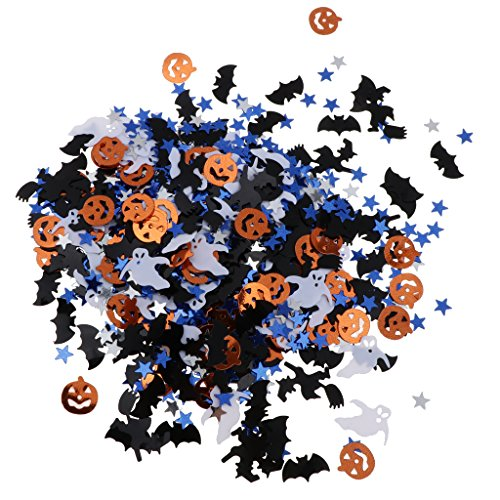 Prettyia 30g Assorted Halloween Pumpkin Witch Star Table Confetti DIY Party -