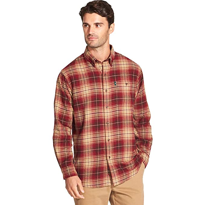 433ea6c906 G.H. Bass & Co. Men's Fireside Long-Sleeve Flannel Shirt at Amazon ...