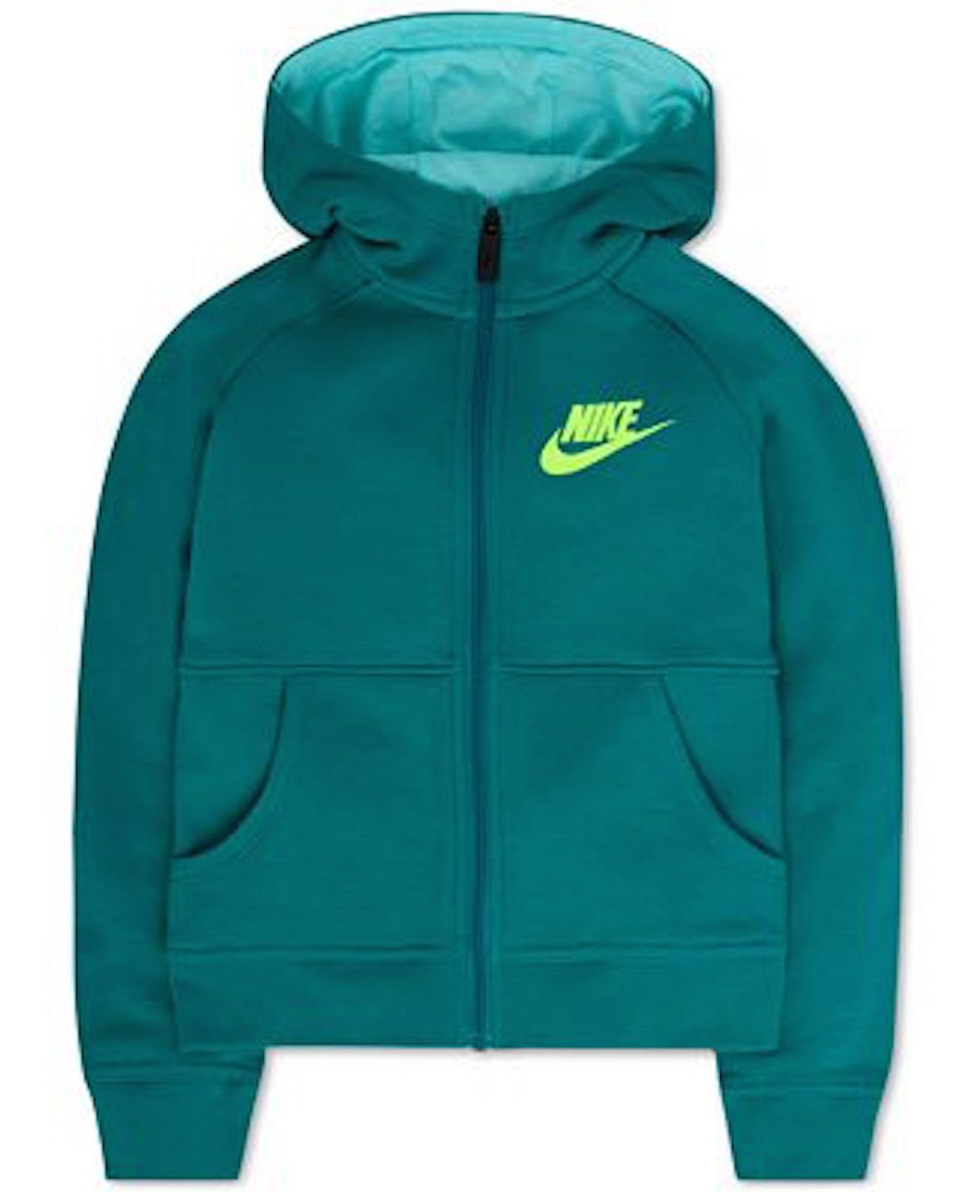 Nike Little Girl Hooded Jacket Size 5 Rio Teal Green