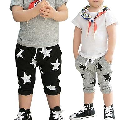 Amazon Com Baby Boys Harem Pants Pattern Printed Cotton Bottoms