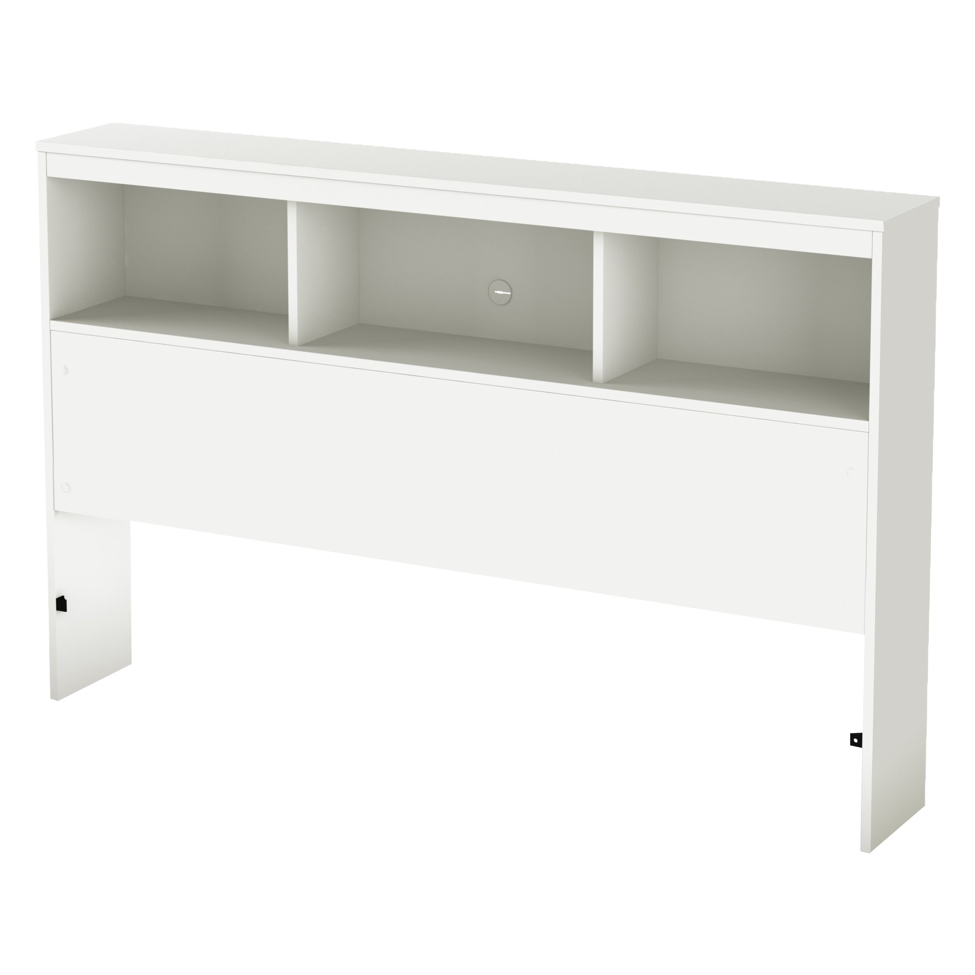 South Shore Furniture 54'' Karma Bookcase Headboard, Full, Pure White by South Shore