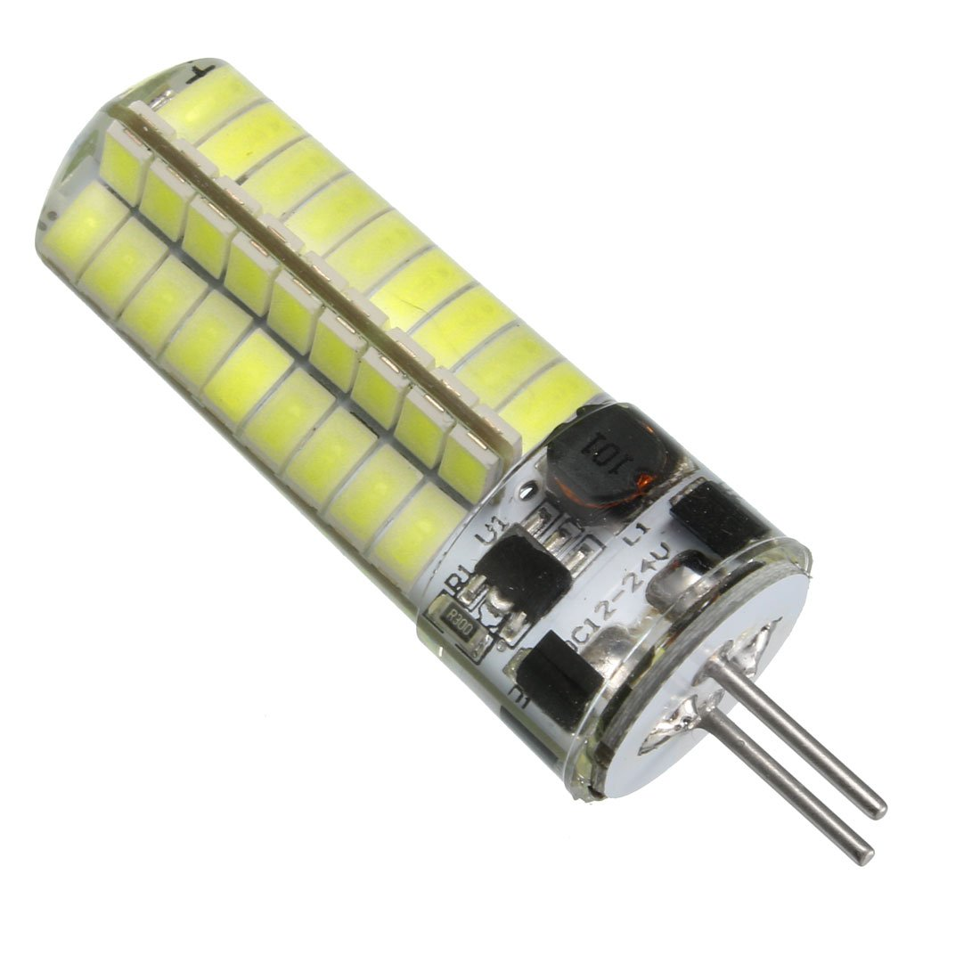 uxcell GY6.35 Base LED Bulb 3W DC12-24V 72x5730SMD Energy Saving Silicone Corn Light Bulb Cool White
