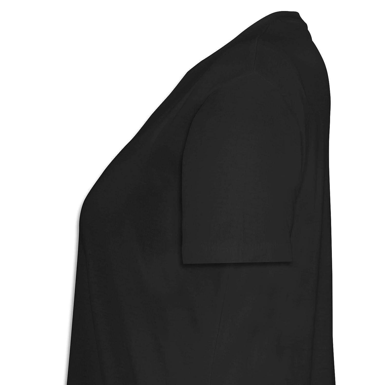 Lebkuchenherz Herzl mit Geweih und Blumen Lockeres Damen-Shirt in gro/ßen Gr/ö/ßen mit Rundhalsausschnitt Oktoberfest Damen