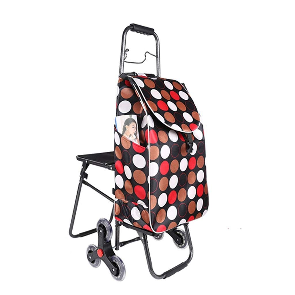 Shopping Carts Shopping Baskets /& Carts Elderly Walker Home Trolley Folding Luggage Cart Trailer Grocery Can Bear 30KG Color : Pink, Size : 9432cm