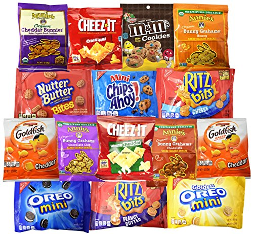 Snack Variety Pack, Cookies and Crackers Sampler & Care Package (16 count) by Blue Ribbon (Sampler Snacks)