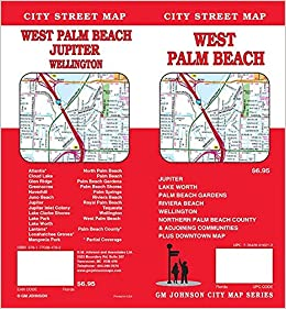 Map Of Palm Beach County Florida.West Palm Beach North Palm Beach County Florida Street Map Gm
