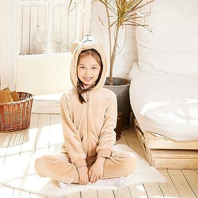 Kids Snug Fit Flannel Walrus Costume Animal Onesie Pajamas for Boys Girls