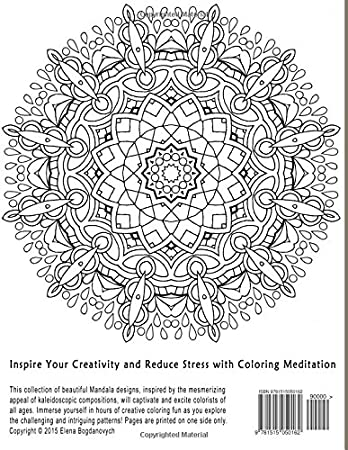 Beautiful Mandalas Inspire Your Creativity And Reduce Stress With Coloring Meditation Volume 2 Amazonin Home Kitchen