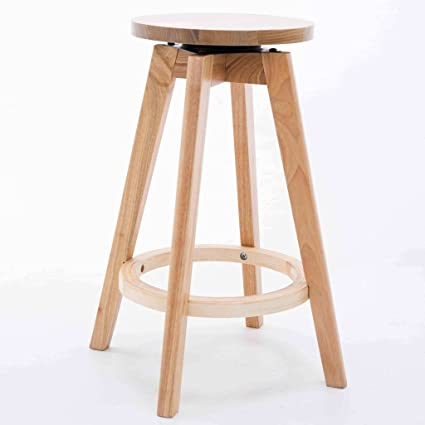 All Solid Wood Modern Simple Chair, Starbucks Bar Bar Stool Front Desk  Chairs ( Color
