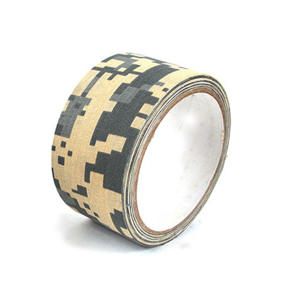 AoToZan 2 Roll 5CM x 10M Outdoor Tarnband Selbstklebende Camouflage Tape Band Wasserdicht Camo Stealth-Tape Panzerband Gewebeband