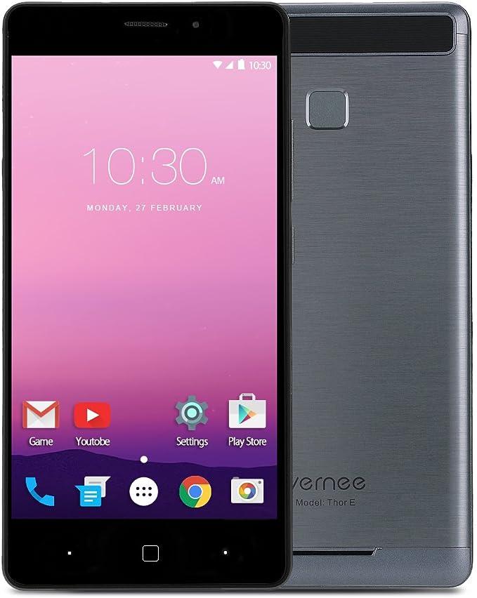 Teléfono Móvil Libre,Vernee Thor E 5.0 Pulgadas 4G Smartphone Libre,Android 7.0 Octa-Core 3GB RAM 16GB Memoria,Doble SIM,5020mAh Batería,Huella Dactilar, Carga Rápida(Gris): Amazon.es: Electrónica
