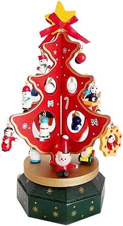 De madera caja de música juguete de regalo de cumpleaños de Navidad para niños – Carrusel, árbol de Navidad: Amazon.es: Hogar
