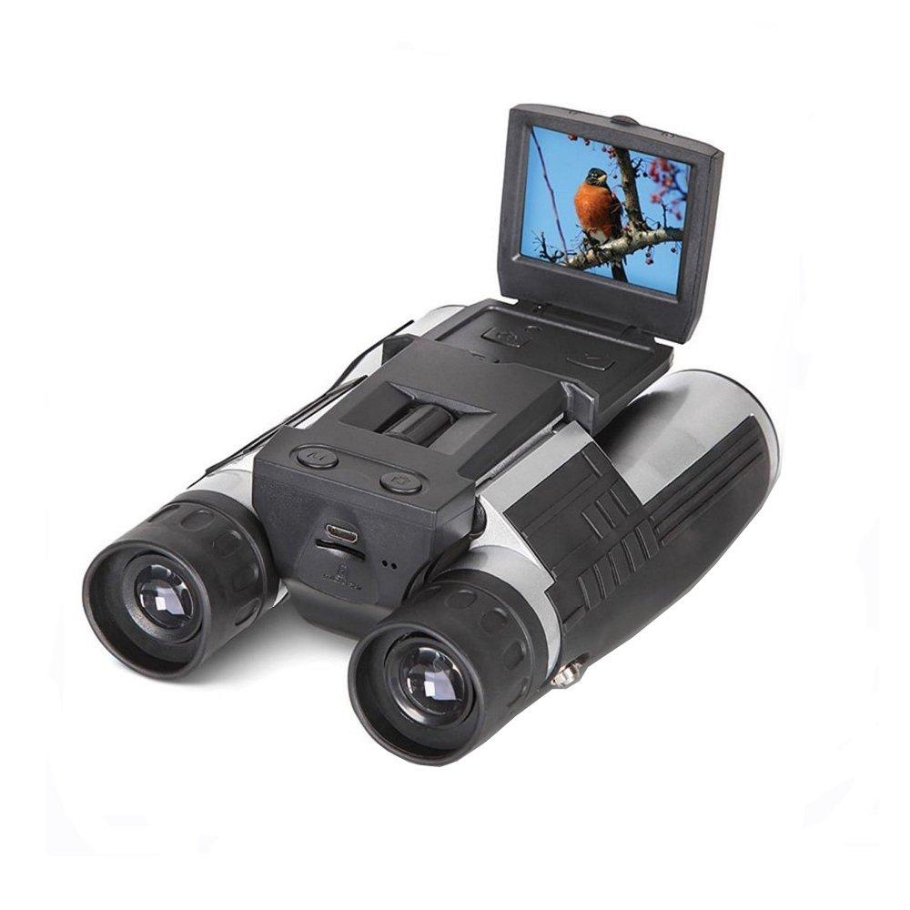Eoncore 2'' LCD Display Digital Camera Binoculars 12x32 5MP Video Photo Recorder Digital Camera Telescope Watching Bird, Football Game + Free 4GB TF Card
