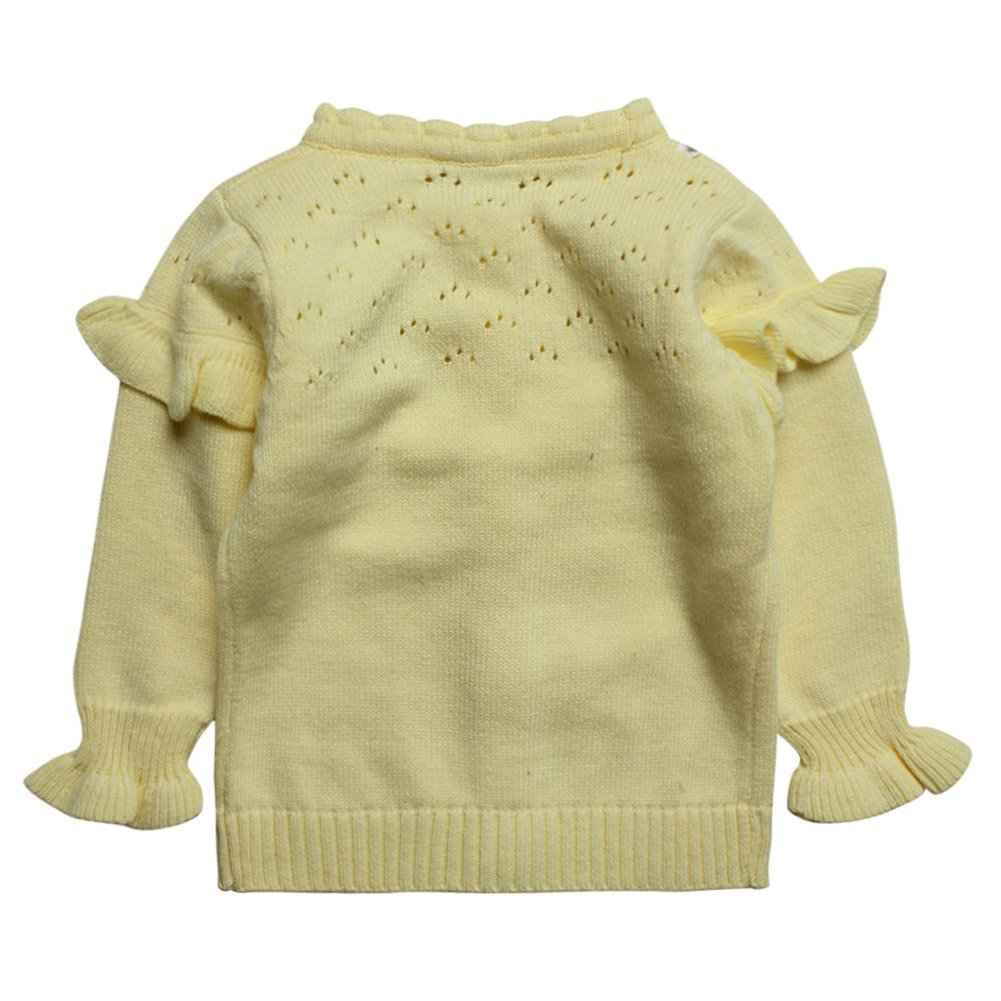E-Tree eTree Little Girls Baby 100/% Cotton Bowknot Puff Sleeves Cardigan Sweater