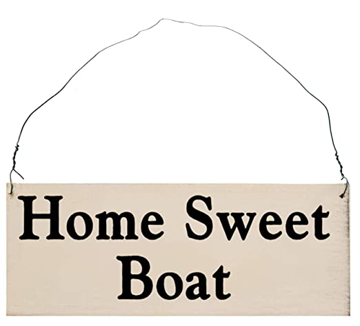 MaxEcor Home Sweet Boat - Señal de Madera rústica Hecha a ...