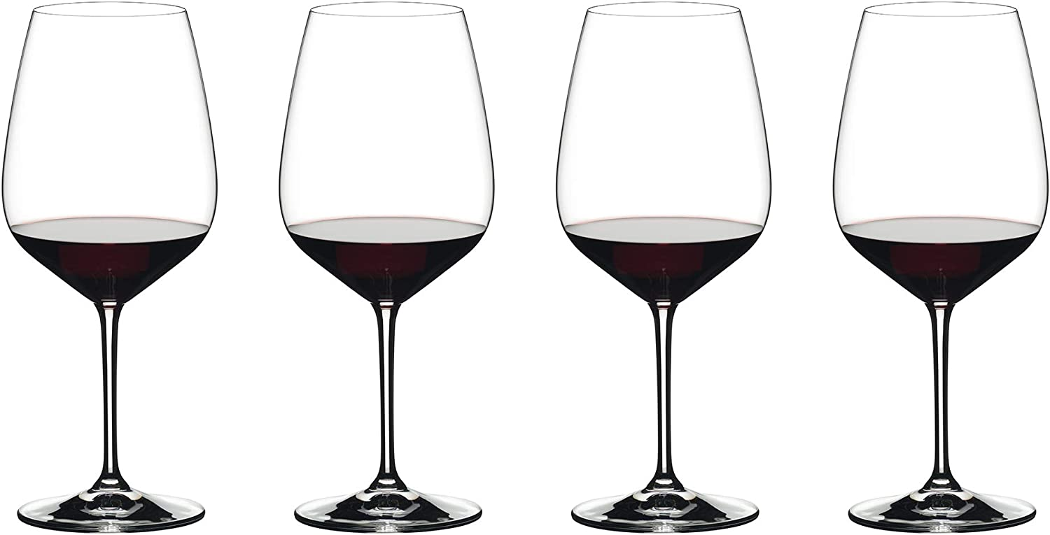 Riedel Exclusive Vinum Extreme Set of 4 Wine Glasses, Red Wine, Ideal For Cabernet, Bourdeaux