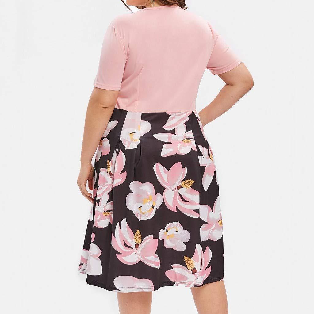 Women Dresses VEZAD Dresses Women Casual Summer Knee Length Plus ...