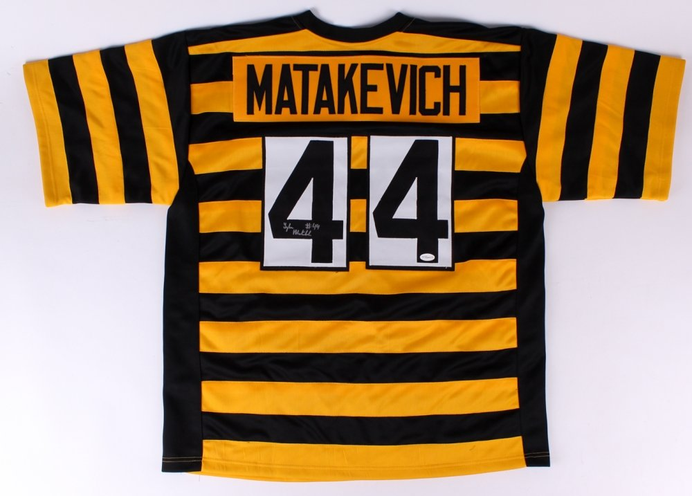 f1d0a3433c9 Tyler Matakevich Signed Steelers Jersey (TSE COA) at Amazon s Sports  Collectibles Store