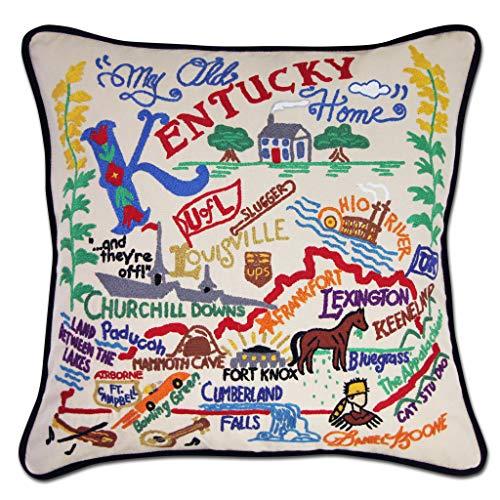 Catstudio | Kentucky Throw Pillow | Hand-Embroidered | 20