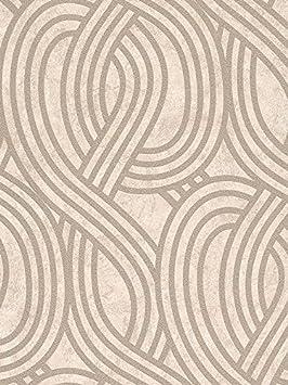 Carat Geometrique Paillettes Papier Peint Dore Et Beige 13345 10