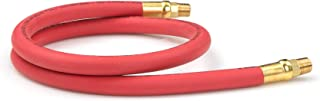 product image for TEKTON 46332 3/8-Inch I.D. by 3-Foot 250 PSI Rubber Lead-In Air Hose with 1/4-Inch MPT Ends