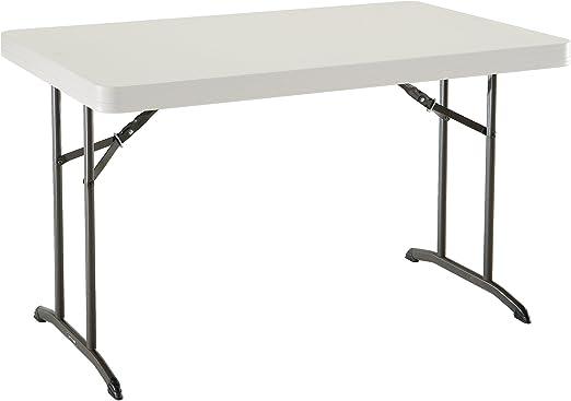 Lifetime 80568 Table Pliante 122 cm-Beige Amande, 122,5 x 76 ...