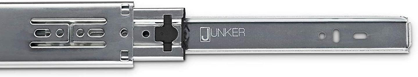 L 450 mm 25 kg Capacidad de Carga JUNKER 1 pieza Gu/ía de Caj/ón Extracci/ón total KV1-25-H35-L450-NF Alto 35