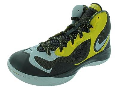 Men's Nike Hyperfranchise XD Basketball Shoe Yellow/Black/Platinum Size 10.5
