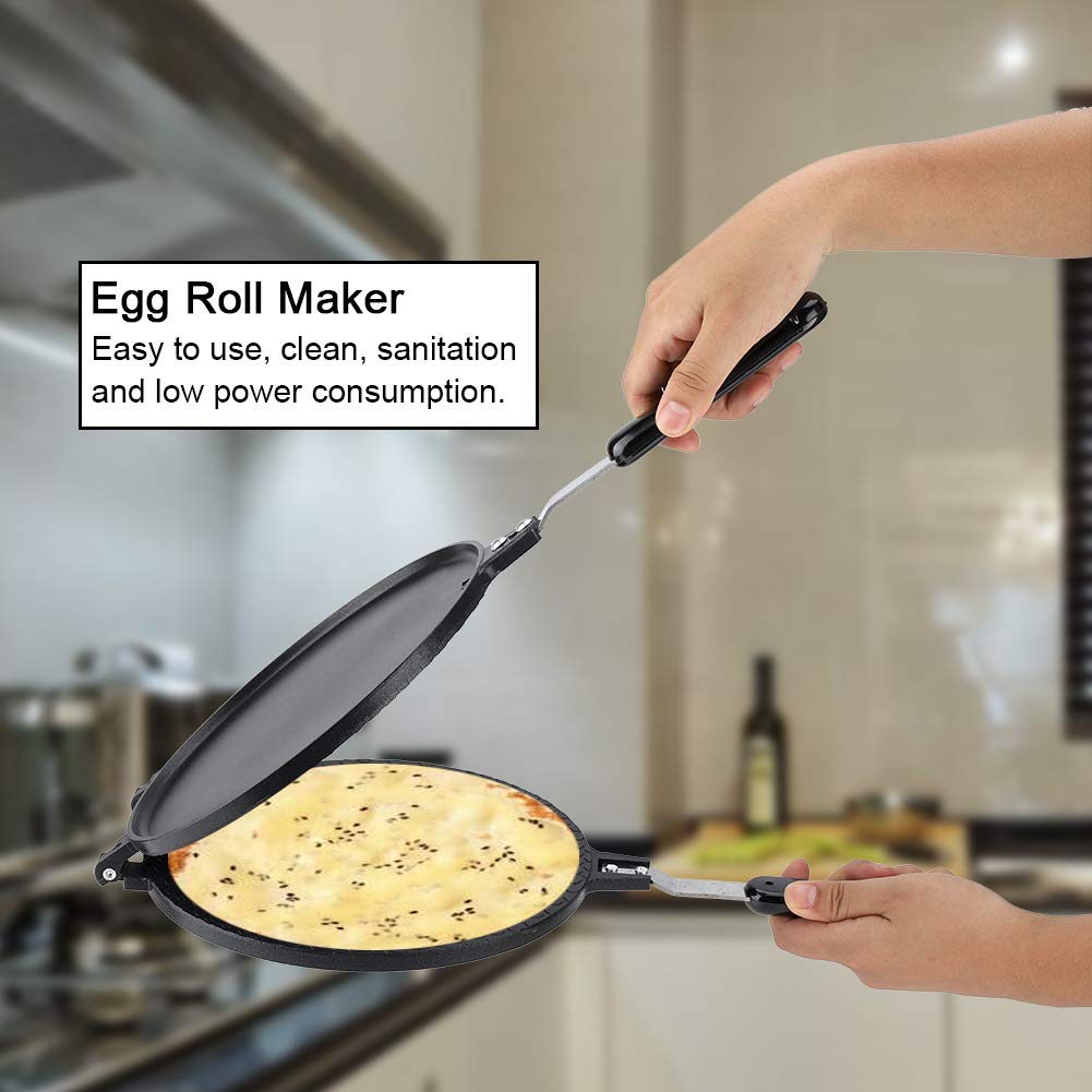 Egg Roll Waffle Making Pan, Household Kitchen Gas Non-Stick Egg Roll Waffle Cone Maker Pan Mold Press Plate Baking Tool by Taidda (Image #3)